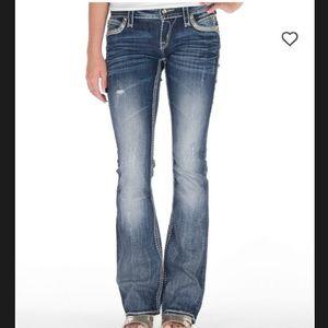 Rock Revival Eleanor Boot Distress Jeans